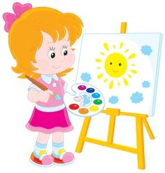Little artist vector image