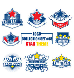 logo collection set with star theme vector image