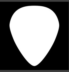 Mediator for guitar white color icon vector