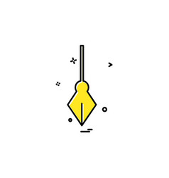 pen icon design vector image