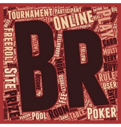 play online poker tournament 1 text background vector image
