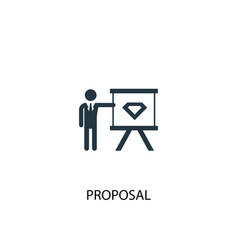 Proposal icon simple element vector