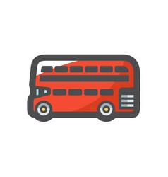 red london bus icon cartoon vector image