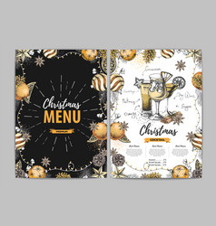 Restaurant christmas holiday menu design vector