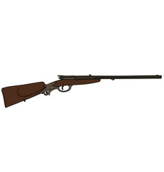 Retro hunting rifle vector