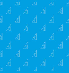 ruler angle pattern seamless blue vector image