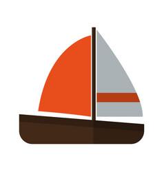 sailboat icon image vector image