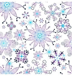 Seamless christmas white pattern vector image