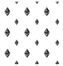 seamless pattern background with ethereum signs vector image