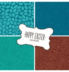 Set of patterns from Easter eggs vector image