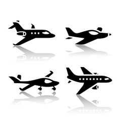 set of transport icons - airplane vector image
