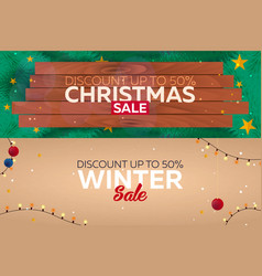 set winter sale posters christmas sale vector image