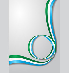 Sierra leone flag wavy background vector