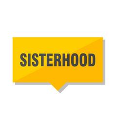 Sisterhood price tag vector