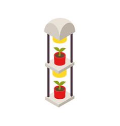 Smart farm isometric icon vector