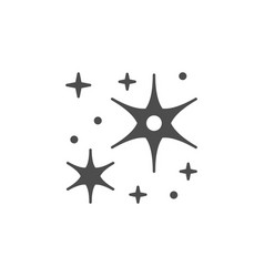 sparkling and twinkling glyph icon vector image