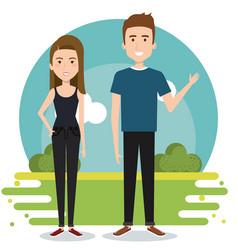 Standing couple design vector