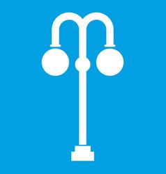 Street lamp icon white vector