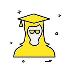 student icon design vector image