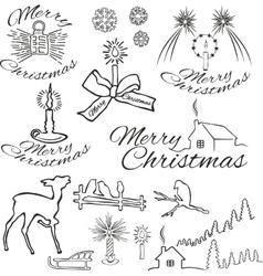 symbols of christmas vector image