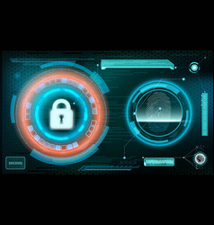technology background storage and protection vector image
