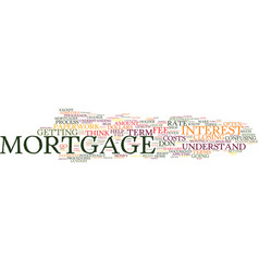 Terms every mortgage holder should know text vector