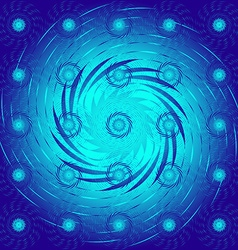 The pattern of blue spirals vector