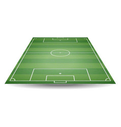 top and back view of football field textured socc vector image