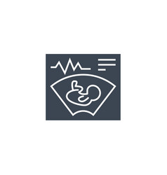 Ultrasound related glyph icon vector