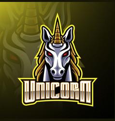 Unicorn head mascot logo design vector