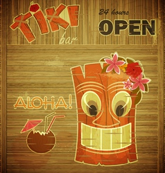 Vintage design hawaii menu vector image vector image