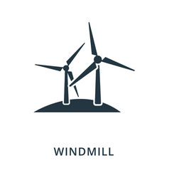 windmill icon flat style icon design ui vector image