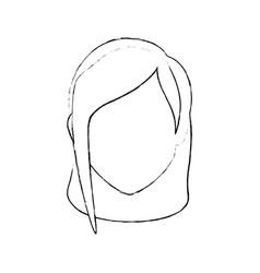 woman faceless head vector image