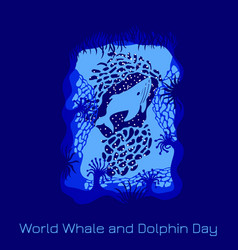 world whale and dolphin day 23 july view from an vector image