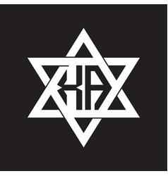 Xa logo monogram isolated with six star shape vector