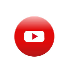 Youtube icon color website mobile app vector