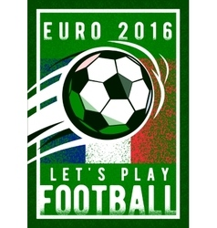 Euro 2016 football championship background with vector image
