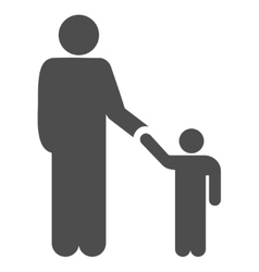 Father Child Flat Icon vector image vector image