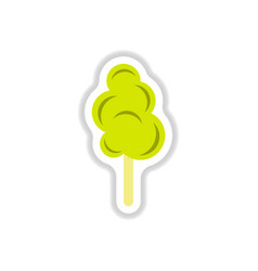 Label icon on design sticker collection cotton vector
