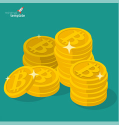 bitcoin sign icon for digital money vector image vector image