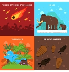 Dinosaurs Concept Set vector image vector image