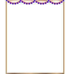 frame american flag garland vector image