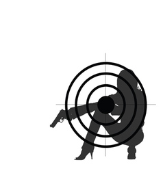 girl with gun and target vector image