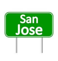 San jose green road sign vector