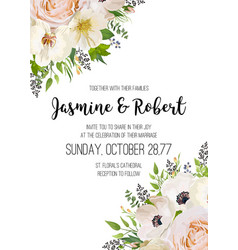 wedding invitation invite card design pink peach vector image
