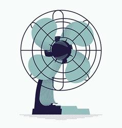Retro Fan Icon vector image vector image