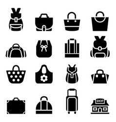 silhouette shopping bag icon vector image vector image