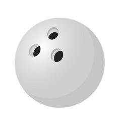 3d realistic silver bowling ballsport item vector image vector image