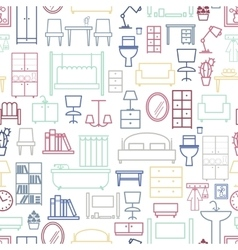 Seamless furniture pattern vector image vector image