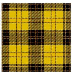Seamless Yellow Tartan Plaid Design vector image vector image